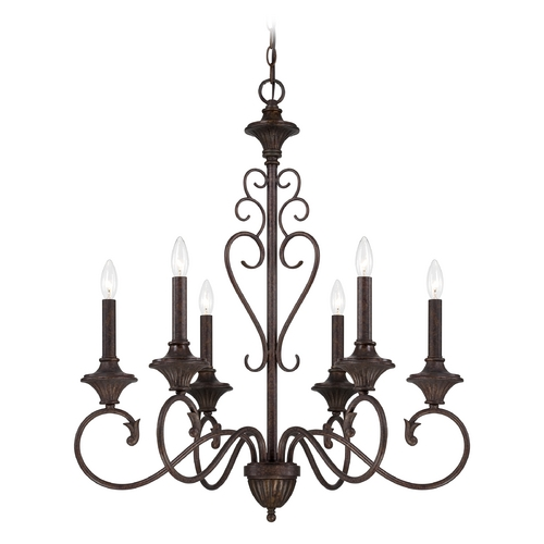 Designers Fountain Lighting Chandelier in Burnt Umber Finish 84886-BU