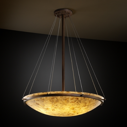Justice Design Group Justice Design Group Alabaster Rocks! Collection Pendant Light ALR-9697-35-DBRZ