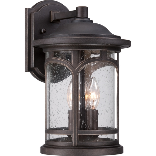 Quoizel Lighting Quoizel Marblehead Palladian Bronze Outdoor Wall Light MBH8409PN