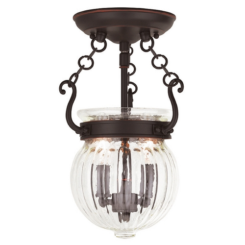 Livex Lighting Livex Lighting Everett Olde Bronze Semi-Flushmount Light 50502-67