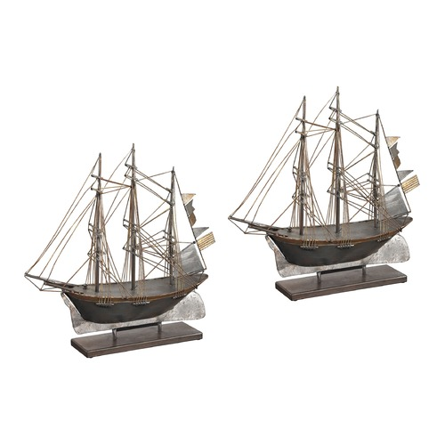 Sterling Lighting Set Of 2 Architectural Ship Statuary 138-099/S2