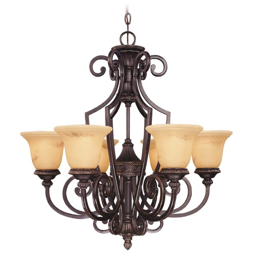 Savoy House Savoy House Antique Copper Chandelier 1P-50201-6-16
