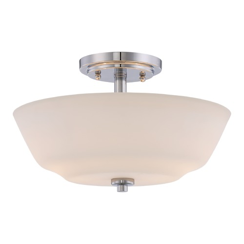 Nuvo Lighting Nuvo Lighting Willow Polished Nickel Semi-Flushmount Light 60/5806