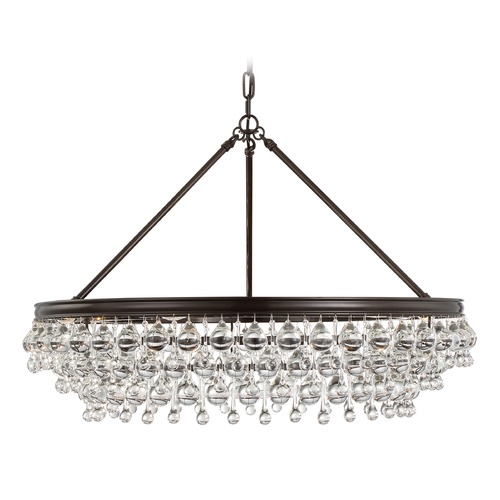 Crystorama Lighting Crystorama Lighting Calypso Vibrant Bronze Pendant Light 275-VZ