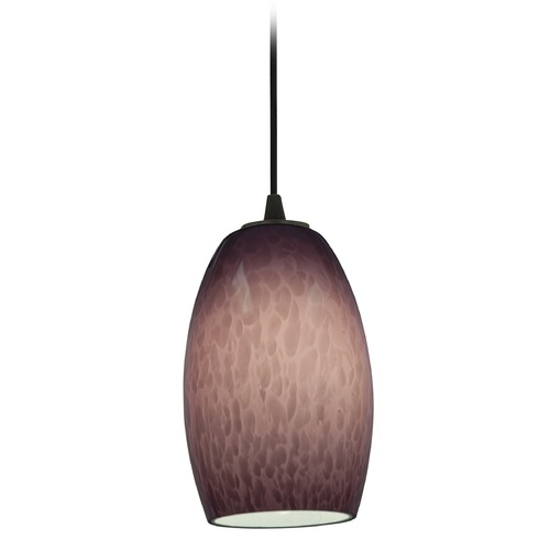 Access Lighting Access Lighting Chianti Oil Rubbed Bronze Mini-Pendant Light with Oblong Shade 28078-3C-ORB/PLC