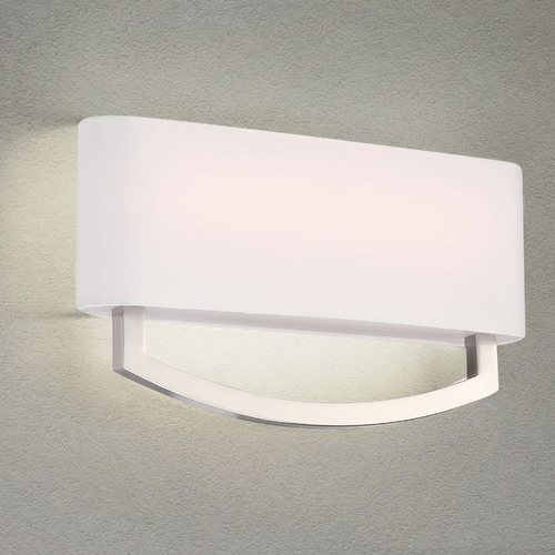 Modern Forms by WAC Lighting Modern Forms Arch Brushed Nickel LED Sconce 3000K 680LM WS-81916-BN