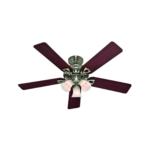 Hunter Fan Company Hunter Fan Company the Sontera Brushed Nickel Ceiling Fan with Light 53117