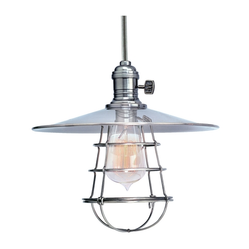 Hudson Valley Lighting Mini-Pendant Light with Silver Cage Shade 9001-PN-WG