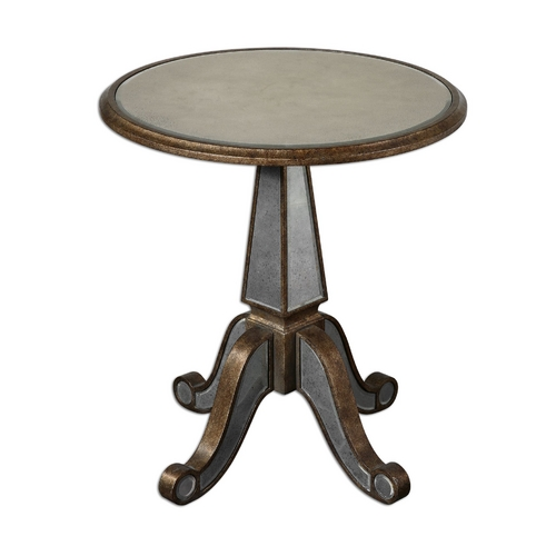 Uttermost Lighting Accent Table in Antique Rustic Gold Finish 24236