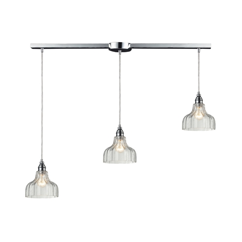 Elk Lighting Multi-Light Pendant Light with Clear Glass and 3-Lights 46018/3L
