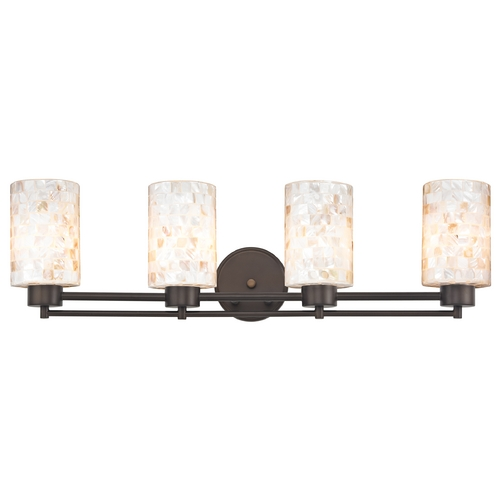 Design Classics Lighting Bathroom Light with Mosaic Glass - Four Lights 704-220 GL1026C