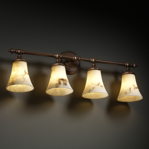 Justice Design Group Justice Design Group Lumenaria Collection Bathroom Light FAL-8524-20-DBRZ