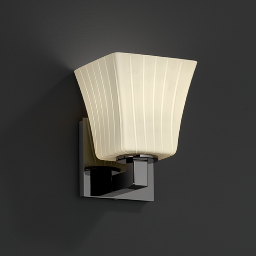 Justice Design Group Justice Design Group Fusion Collection Sconce FSN-8921-40-RBON-BLKN