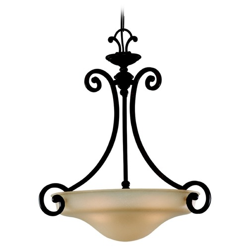 Sea Gull Lighting Sea Gull Lighting Acadia Misted Bronze Pendant Light 65146BLE-814