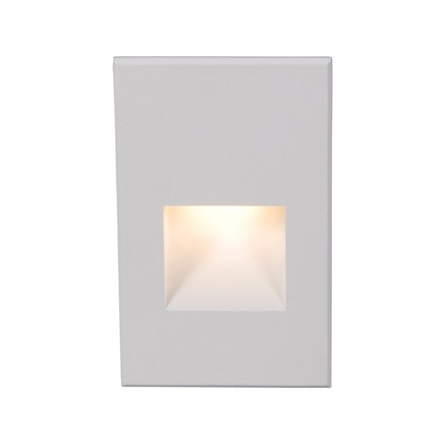 WAC Lighting WAC Lighting White LED Recessed Step Light with Amber LED WL-LED200-AM-WT
