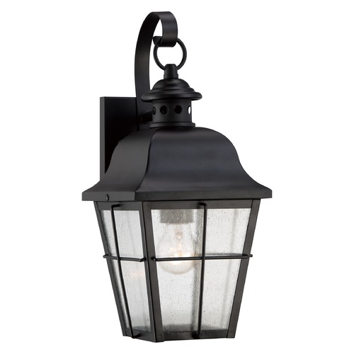 Quoizel Lighting Quoizel Millhouse Mystic Black Outdoor Wall Light MHE8406KFL