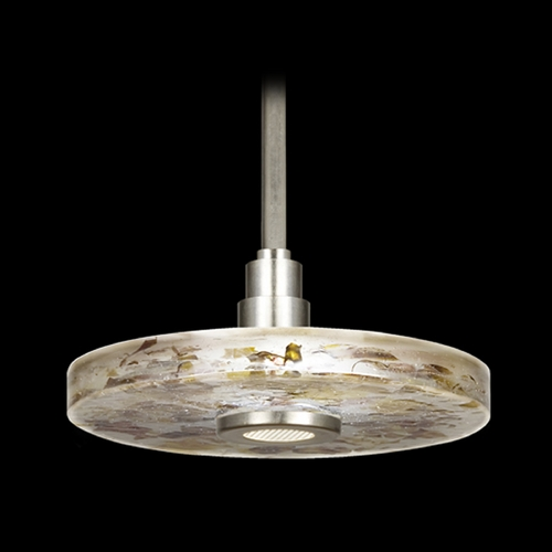 Fine Art Lamps Fine Art Lamps Crystal Bakehouse Silver Pendant Light with Drum Shade 823240-21ST