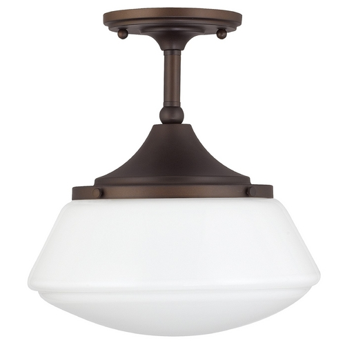 Capital Lighting Capital Lighting Burnished Bronze Semi-Flushmount Light 3533BB-129