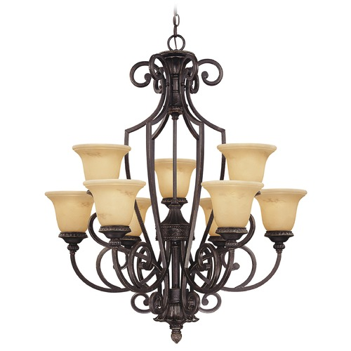 Savoy House Savoy House Antique Copper Chandelier 1P-50203-9-16