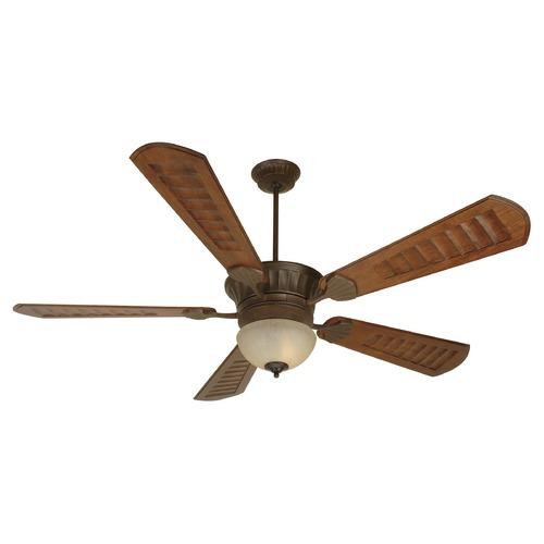 Craftmade Lighting Craftmade Lighting Dc Epic Aged Bronze Textured Ceiling Fan with Light K10515