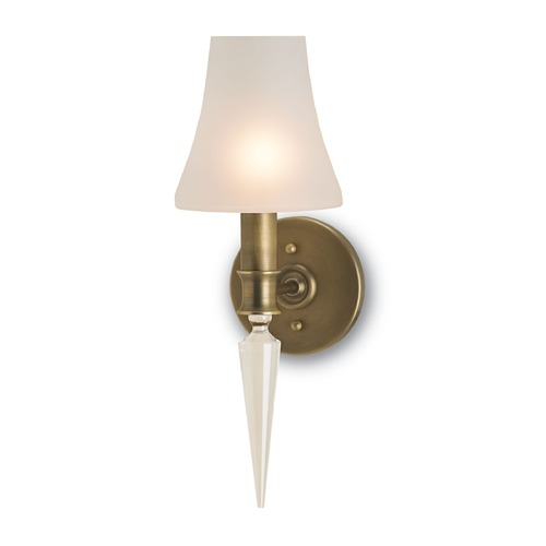 Currey and Company Lighting Currey and Company Kennedy Antique Brass Sconce 5201