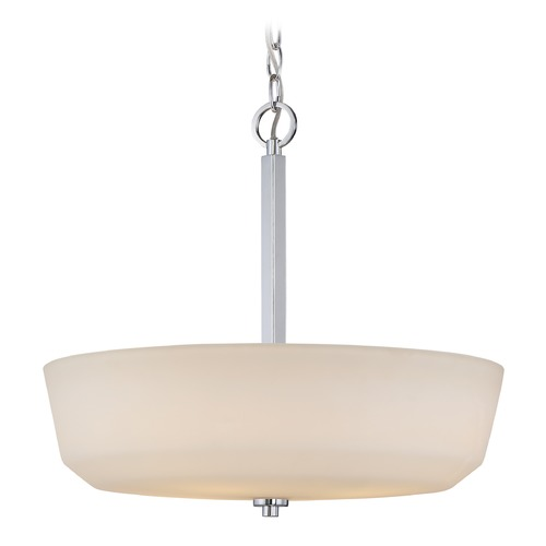 Nuvo Lighting Nuvo Lighting Willow Polished Nickel Pendant Light with Bowl / Dome Shade 60/5807