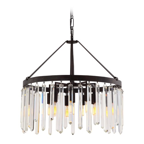 Crystorama Lighting Crystorama Hollis 10-Light Crystal Chandelier in Forged Bronze 8406-FB