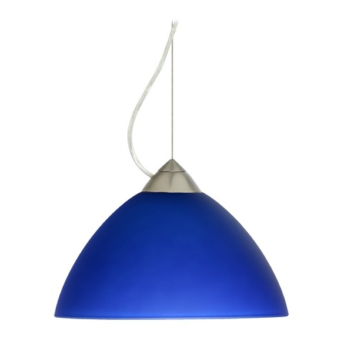 Besa Lighting Besa Lighting Tessa Satin Nickel LED Pendant Light with Bell Shade 1KX-420187-LED-SN