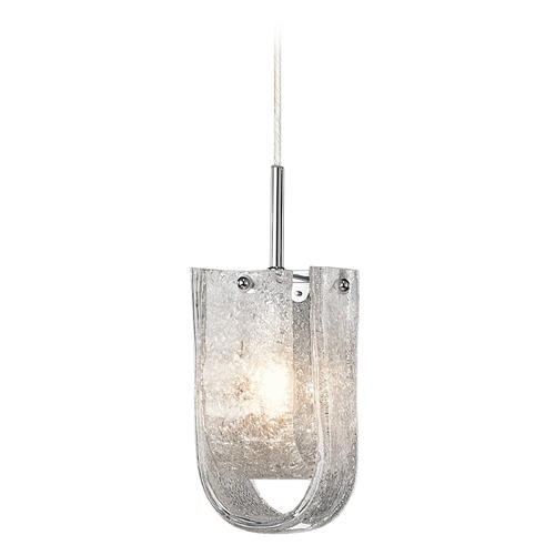Elan Lighting Elan Lighting Zanne Chrome Mini-Pendant Light with Bell Shade 83093