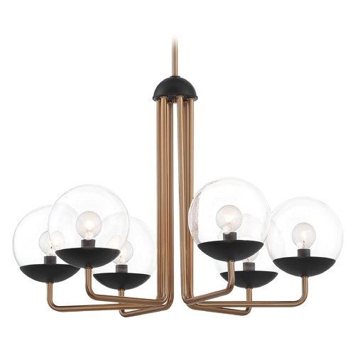 George Kovacs Lighting George Kovacs Outer Limits Painted Bronze with Natural Brushed Brass Chandelier P1505-416