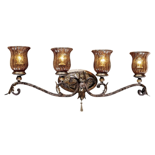 Metropolitan Lighting Bathroom Light with Brown Glass in Sanguesa Patina Finish N6074-194