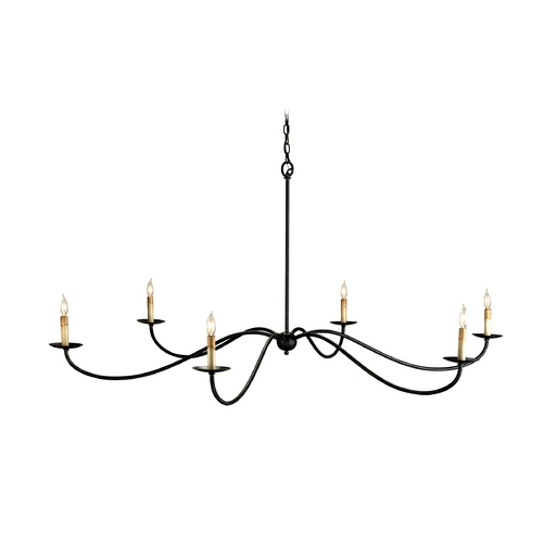 Currey and Company Lighting Currey and Company Chandelier in Black Finish 9267