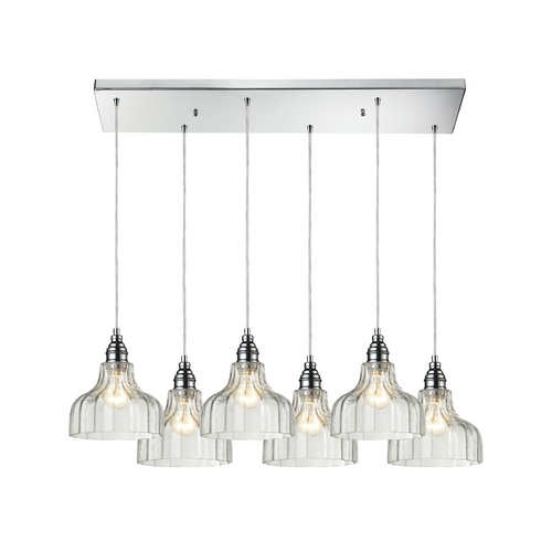 Elk Lighting Multi-Light Pendant Light with Clear Glass and 6-Lights 46018/6RC