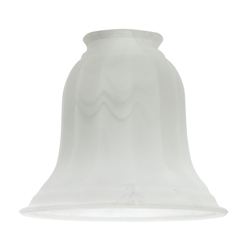 Design Classics Lighting White Bell Glass Shade - 2-1/4-Inch Fitter Opening G9430