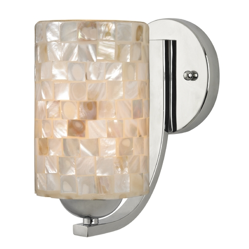 Design Classics Lighting Sconce with Mosaic Glass in Chrome Finish 585-26 GL1026C