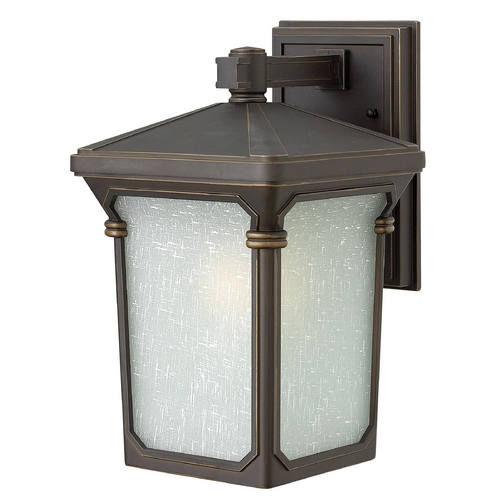 Hinkley Lighting Outdoor Wall Light with White Glass in Oil Rubbed Bronze Finish 1350OZ-GU24