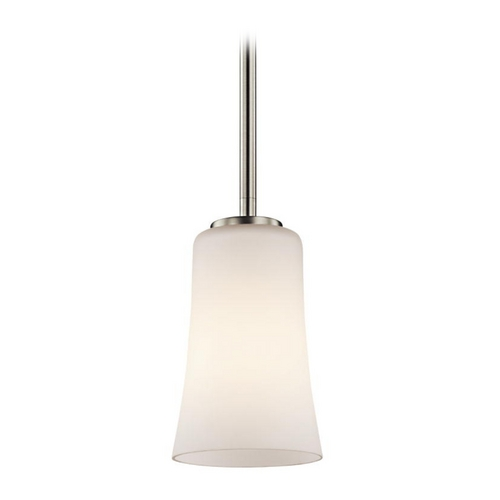 Kichler Lighting Kichler Mini-Pendant Light with White Glass 43077NIFL