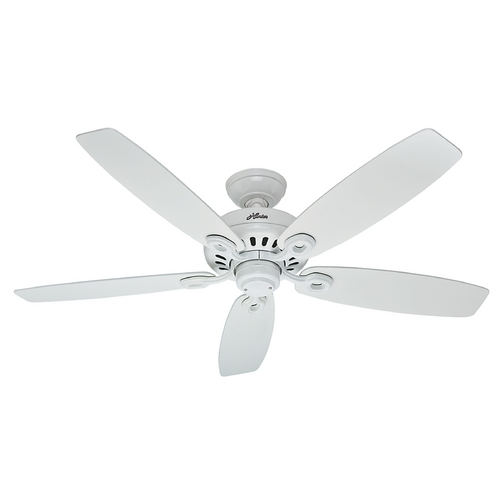 Hunter Fan Company Hunter Fan Company Markham Snow White Ceiling Fan Without Light 54108