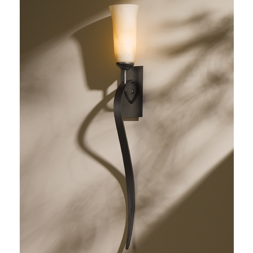 Hubbardton Forge Lighting Hubbardton Forge Lighting Sweeping Taper Dark Smoke Sconce 204529-07-H350