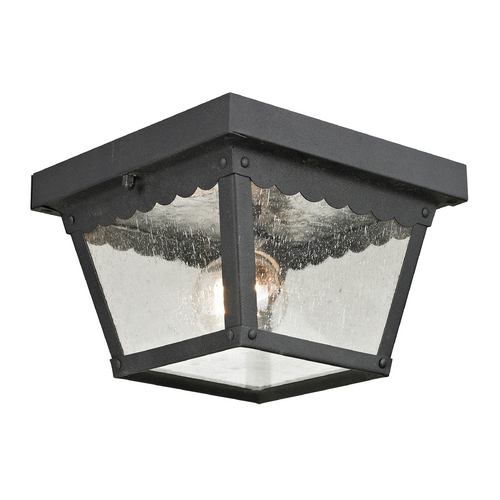 Cornerstone Lighting Cornerstone Lighting Springfield Matte Textured Black Close To Ceiling Light 9102EF/65