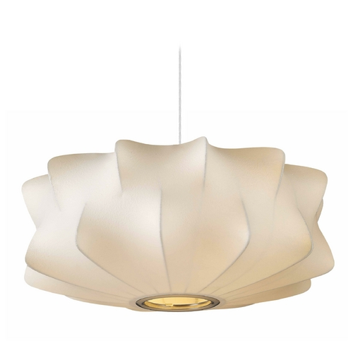 Avenue Lighting Avenue Lighting Melrose Place White Pendant Light with Drum Shade HF2110-WHT