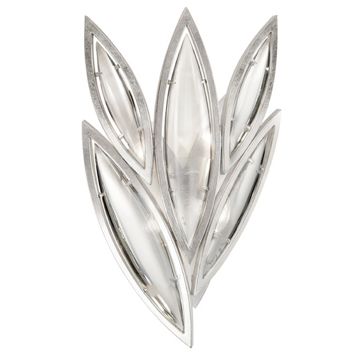 Fine Art Lamps Fine Art Lamps Marquise Platinized Silver Leaf Sconce 854050-11ST