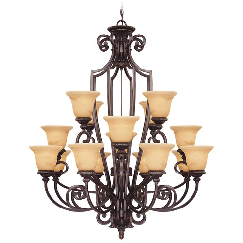 Savoy House Savoy House Antique Copper Chandelier 1P-50205-16-16