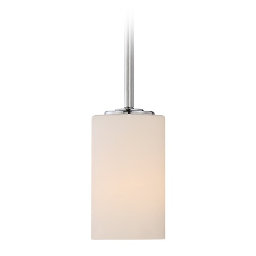 Nuvo Lighting Nuvo Lighting Willow Polished Nickel Mini-Pendant Light with Cylindrical Shade 60/5808
