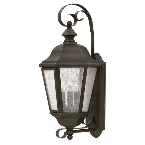 Hinkley LED Seeded Glass Outdoor Wall Light Bronze 21 Inches Tall by Hinkley 1670OZ-LL