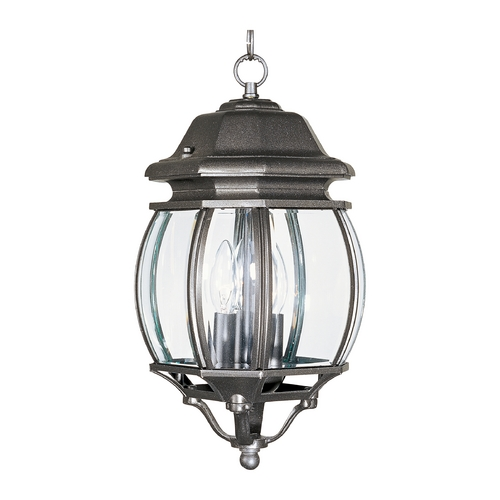 Maxim Lighting Outdoor Hanging Light with Clear Glass in Rust Patina Finish 1036RP