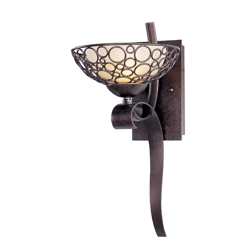 Maxim Lighting Sconce Wall Light with White Glass in Umber Bronze Finish 21348DWUB