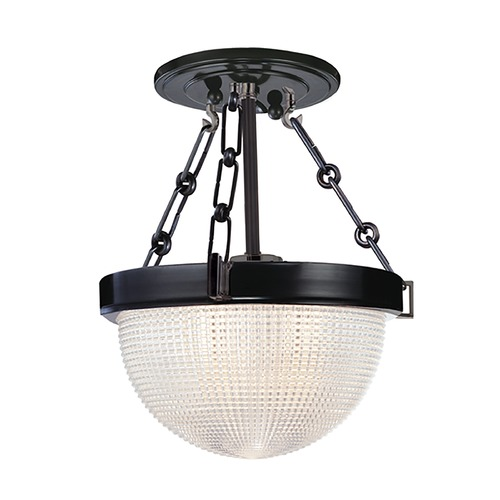 Hudson Valley Lighting Semi-Flushmount Light with Clear Glass in Old Bronze Finish 4409-OB