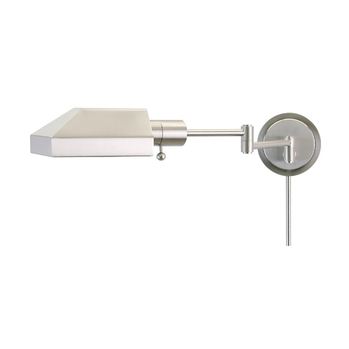 House of Troy Lighting Swing Arm Lamp in Satin Nickel Finish WS12-52-J