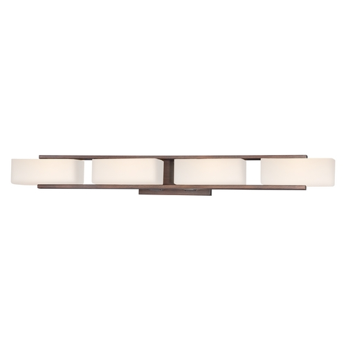 Designers Fountain Lighting Modern Bathroom Light with White Glass in Tuscana Finish 6634-TU